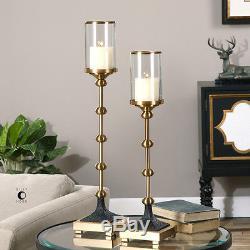 Santona Brass Candleholders, S/2