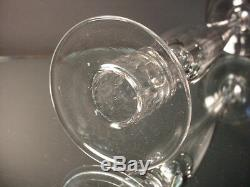 Scarce Pairpoint Company Glass 16 Ht Art Nouveau Crystal Clear Candlestick 1910