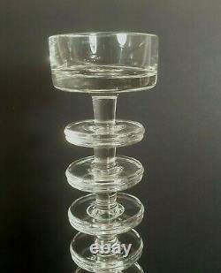 Scarce Ronald Stennett Wilson 7 Rings Wedgwood Glass Sheringham Candlestick