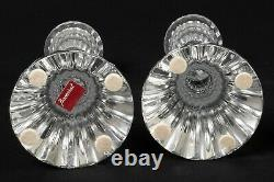 Set of Two Baccarat Crystal Massena Candle Stick Holders 6 Made in France