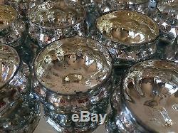 Silver Mercury Glass Pumpkin Tea Light Holders Vintage Wedding Table Decoration