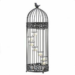 Spiral Stair-stepped Bird Cage LARGE Candelabra Candle Holder Accent Decor