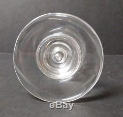 Steuben Crystal Mid-Century 4.5 Teardrop Candlestick, #8555