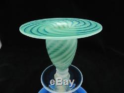 Steuben Oriental Jade Candlestick