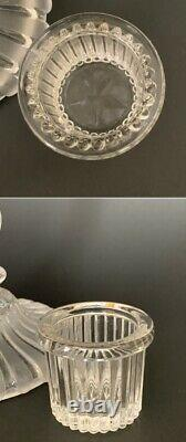 Super Rare Antq French Baccarat Signed Figural Enfant Glass Ormolu Candlestick