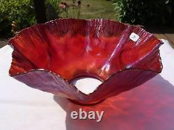 Super Rare Red and Gold L. C. Tiffany Favrile Candle stick Shade