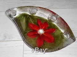 Swedish Mats Jonasson Red Flower Delight Candle Holder MJ 69017  ($323)