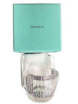 TIFFANY & CO Crystal Candle Holder Votive Roman Numeral ATLAS Discontinued-NWB