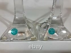 Tiffany & Co Crystal 10 Candlesticks Set of 2
