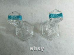 Tiffany & Co Plymouth 8 Tall Crystal Candlesticks 1 Pair New S9657