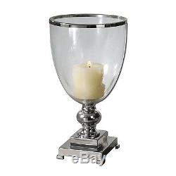 Uttermost 19718 Lino Clear Glass Candle Holder