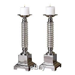 Uttermost 19840 Ardex Mercury Glass Candle Holders (Set of 2)