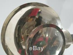 VINTAGE PARABOLIC CANDLE HOLDER with REFLECTOR & MAGNIFYING GLASS RARE
