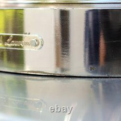 VTG Ralph Lauren Classic Glen Plaid Crystal Candle Hurricane Lamp $800 1990s VG