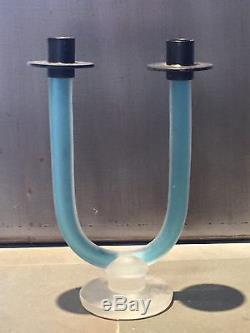 Venitian Italian Glass Candle Holder Modernist