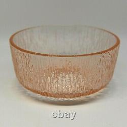 Vintage Fairy Lamp Pink Tiara Glass Mushroom Ice Rain Texture