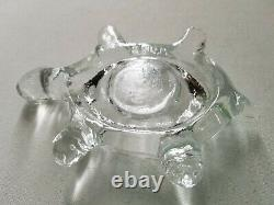 Vintage HTF LE SMITH Glass Turtle Fairy Light Lamp, Amber & Clear, 2 Pc, RARE
