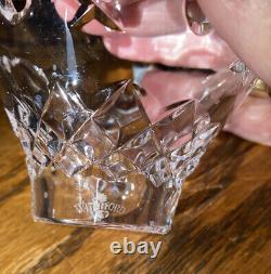 Vintage WATERFORD CRYSTAL C1 CANDELABRA CANDLESTICK HOLDERS BOBECHE 10 PRISMS