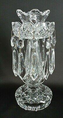 Waterford Candlestick Holder Crystal Glass Vintage Lismore Bobeche Prisms