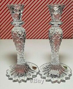 Waterford Crystal Sea Jewel Candle Sticks! 1 Pair! NIB
