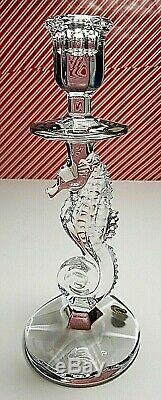 Waterford Crystal Seahorse CandleSticks! 1 Pair! NIB