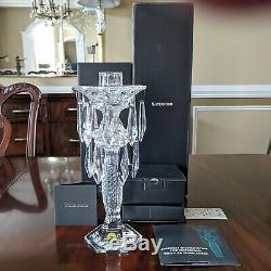 Waterford Crystal TARA CANDELABRA Candle Stick Holder + Prisms NEW Old Stock MIB