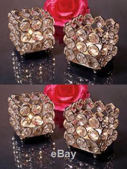 Wholesale Crystal Wedding Votive Candle Holders Centerpieces 50 PCs Bulk Lot