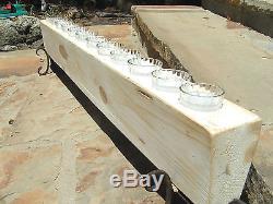 Wooden 12 hole Sugar Mold CANDLE Holder COMPLETE Set Clear glass votives